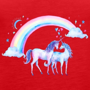 Unicorn couples in love - Women's Premium Tank Top