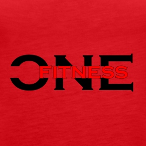 ONE FITNESS Logo (Without Globe) - Women's Premium Tank Top