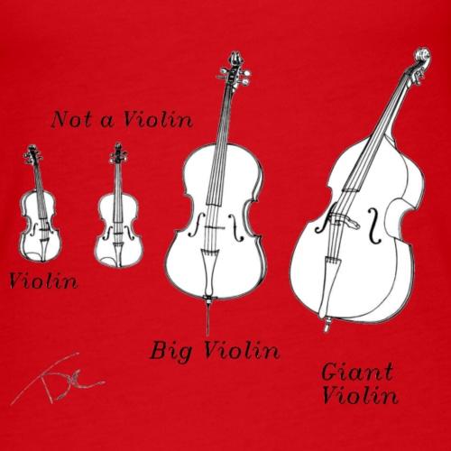 Not a violin - Vrouwen Premium tank top