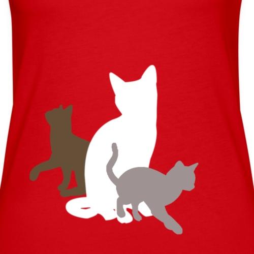 Katzen, Weiße Mama und zwei Junge - Frauen Premium Tank Top