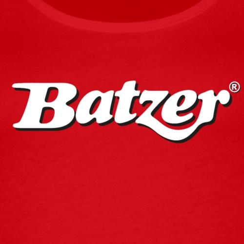 Batzer Logo Wit - Vrouwen Premium tank top