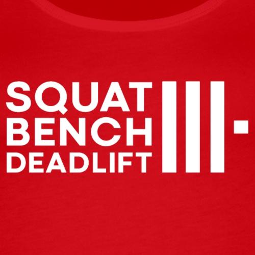 Squat Bench Deadlift m. Hvid Bomærke