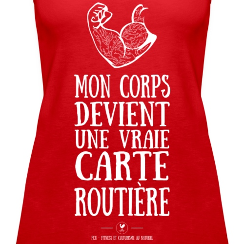 Carte Routiere - Débardeur Premium Femme