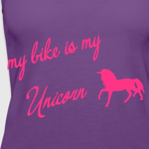my bike my unicorn - Frauen Premium Tank Top