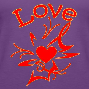 Abstract Heart shape with love - Women's Premium Tank Top