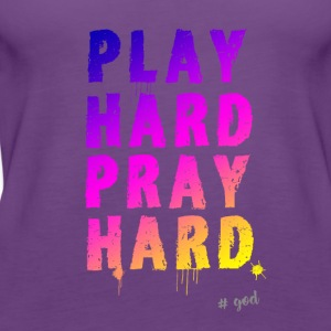 playhard be jesus pray relegion kirchentag gud - Premium singlet for kvinner