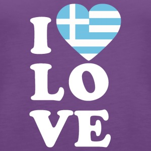 I love Greece - Women's Premium Tank Top