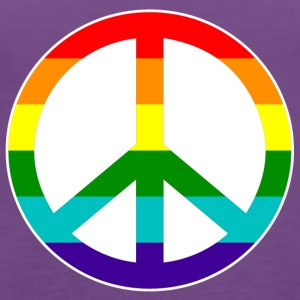 Peace Love and Happiness in rainbow colors - Women's Premium Tank Top