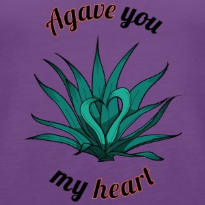 agave you my heart - Women's Premium Tank Top