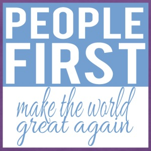 People first - make the world great again - Women's Premium Tank Top