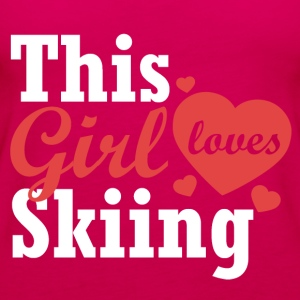 This girl loves Skiing - Women's Premium Tank Top
