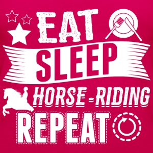 ridning EAT SLEEP ridehest - Dame Premium tanktop