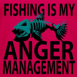 Anger Management - Fishing - Women's Premium Tank Top