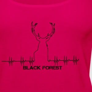 Black Forest Heartbeat black - Frauen Premium Tank Top