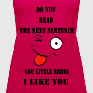 Do not read the next sentence - Women's Premium Tank Top
