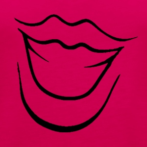 Laughing Mouth - Naisten premium hihaton toppi