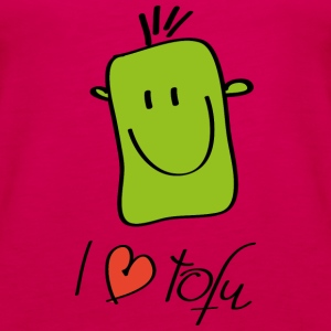 I love tofu - Women's Premium Tank Top
