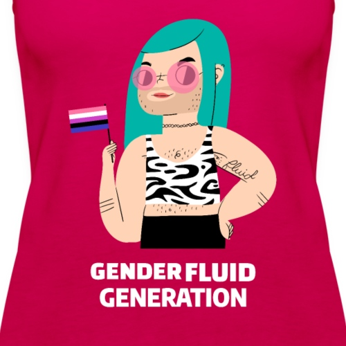 Fluid Generation | LGTBIQ Orgullo Trans - Camiseta de tirantes premium mujer