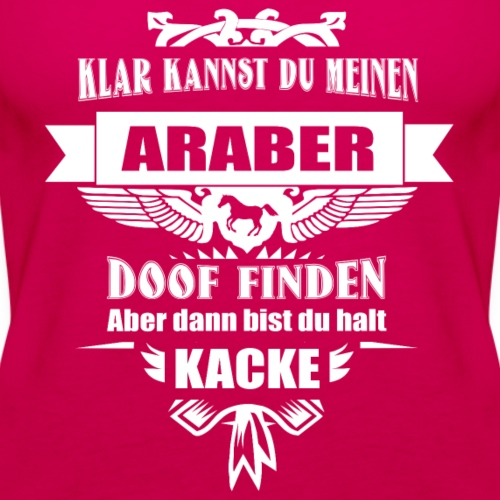 Araber - Frauen Premium Tank Top