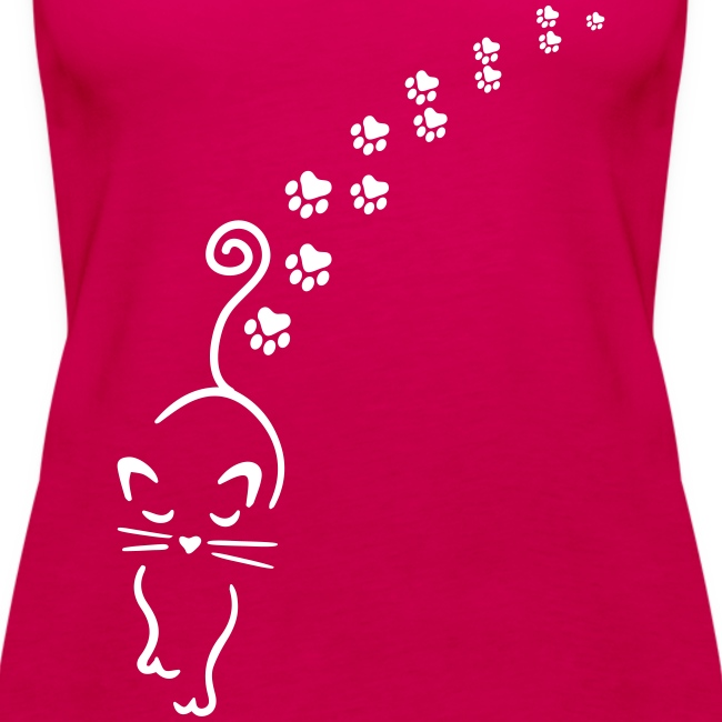 catwalk cat - Frauen Premium Tank Top