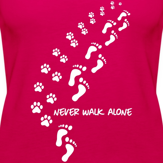 Vorschau: never walk alone dog - Frauen Premium Tank Top