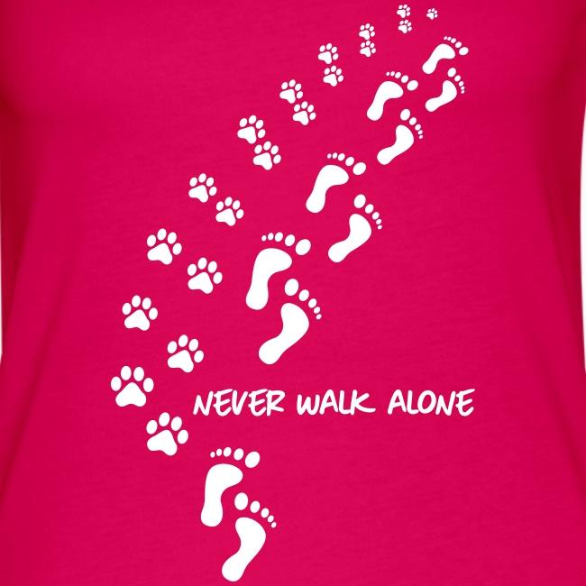 Vorschau: never walk alone dog - Frauen Premium Tank Top
