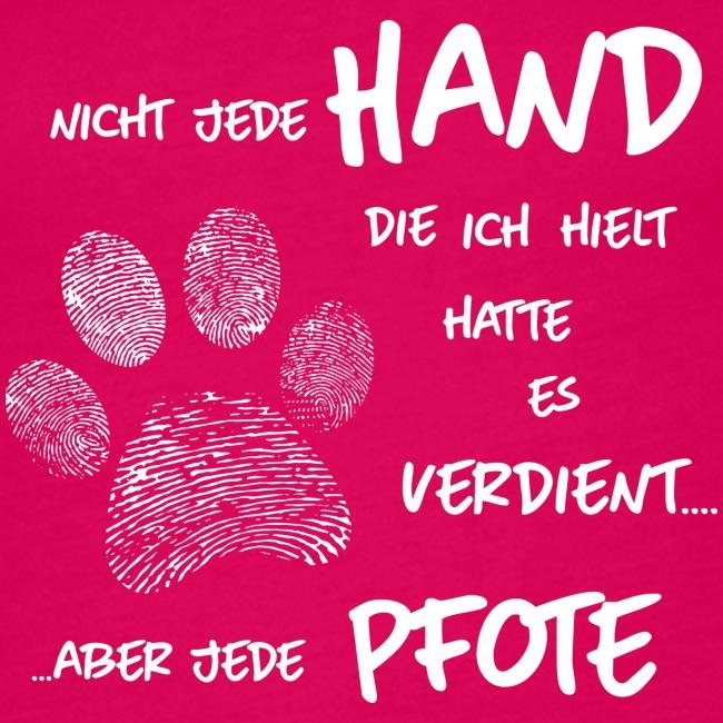 Vorschau: Hand Pfote Hund - Frauen Premium Tank Top