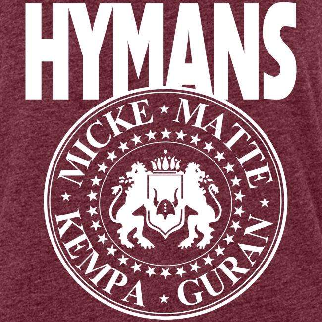 Hymans White classic logo print