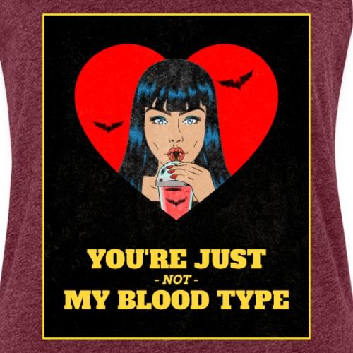 Retro Halloween Vampire | My Blood Type - Camiseta de tirantes premium mujer