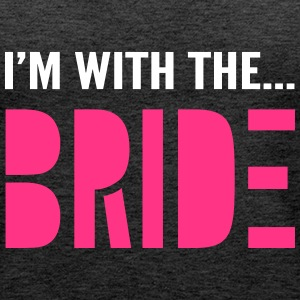 I'm with the Bride - Bridesmaid T-Shirt - Women's Premium Tank Top