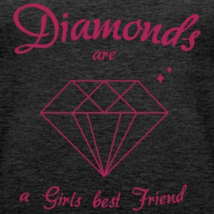 Diamonds are a Girls best Friend - Frauen Premium Tank Top