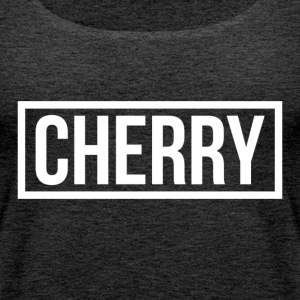 Cherry Hvit - Premium singlet for kvinner