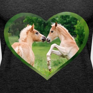 Haflinger foal funny friends with heart - Women's Premium Tank Top