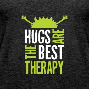 Hugs are the best therapy! Just embrace! - Women's Premium Tank Top