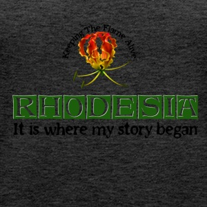 Rhodesia Story Begins Green - Women's Premium Tank Top