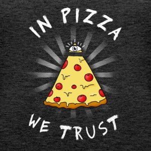Pizza All Seeing Eye Illuminati FunnyFood eye ma - Women's Premium Tank Top