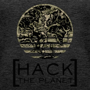 Hack the planet Motto T-Shirt Camouflage - Frauen Premium Tank Top