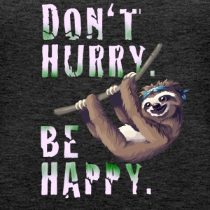 Sloth Slow chilling sleep lazy sloth Nerd spruc - Women's Premium Tank Top