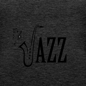 Cool Jazz Music Shirt, Saxophone and Musical notes - Women's Premium Tank Top