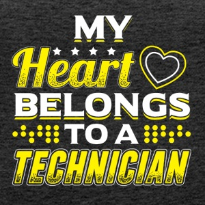 My Heart Belongs To A Technician - Women's Premium Tank Top