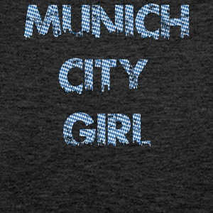 Munich City Girl Logo with Bavarian background - Women's Premium Tank Top