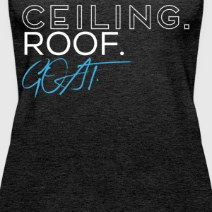 Ceiling Roof Goat Basketball T-Shirt - Women's Premium Tank Top