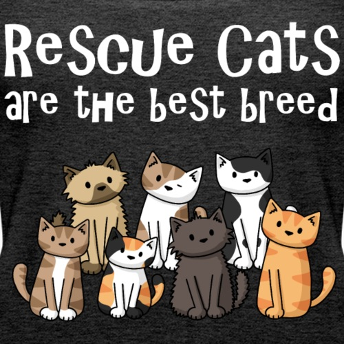 Rescue Cats Are The Best - Women's Premium Tank Top