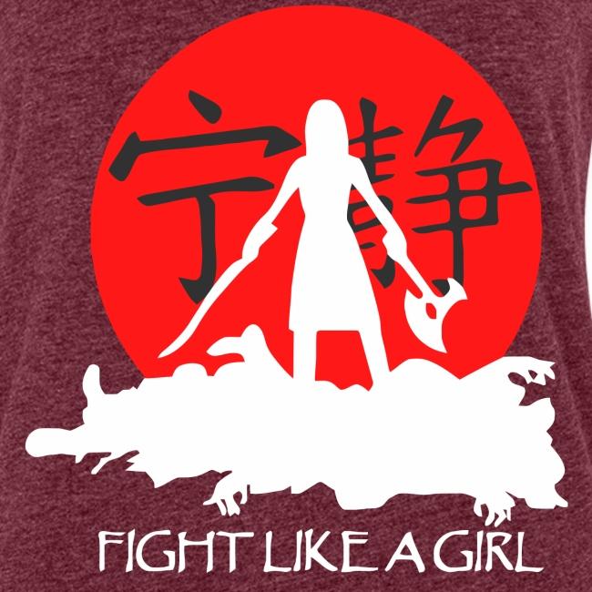 Fight like a girl shirt