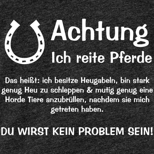 Vorschau: Achtung ich reite Pferde - Frauen Premium Tank Top