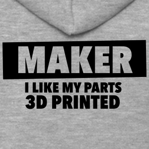 maker - i like my parts 3d printed - Men's Premium Hooded Jacket