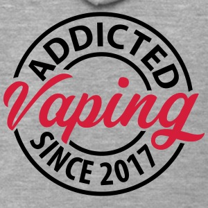 Vaping - Addicted dal 2017 - Felpa con zip Premium da uomo