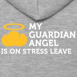 My Guardian Angel Is On Vacation - Men's Premium Hooded Jacket