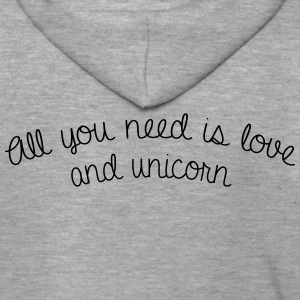 All you need is love and unicorn - Veste à capuche Premium Homme