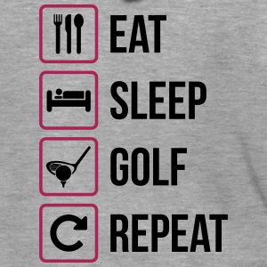 Eat Sleep Golf Gjenta - Premium Hettejakke for menn
